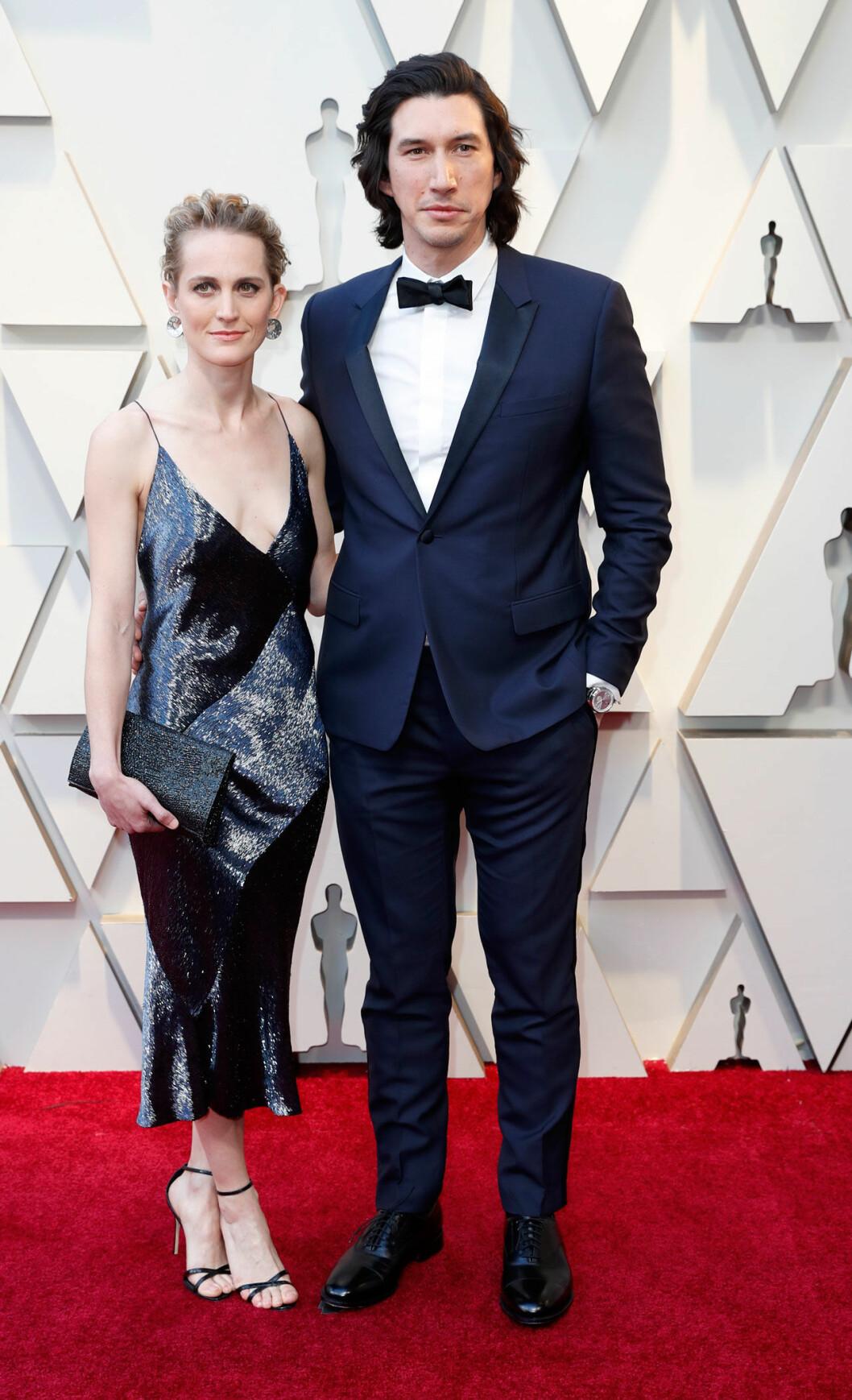 Joanne Tucker och Adam Drive på Oscarsgalan 2019