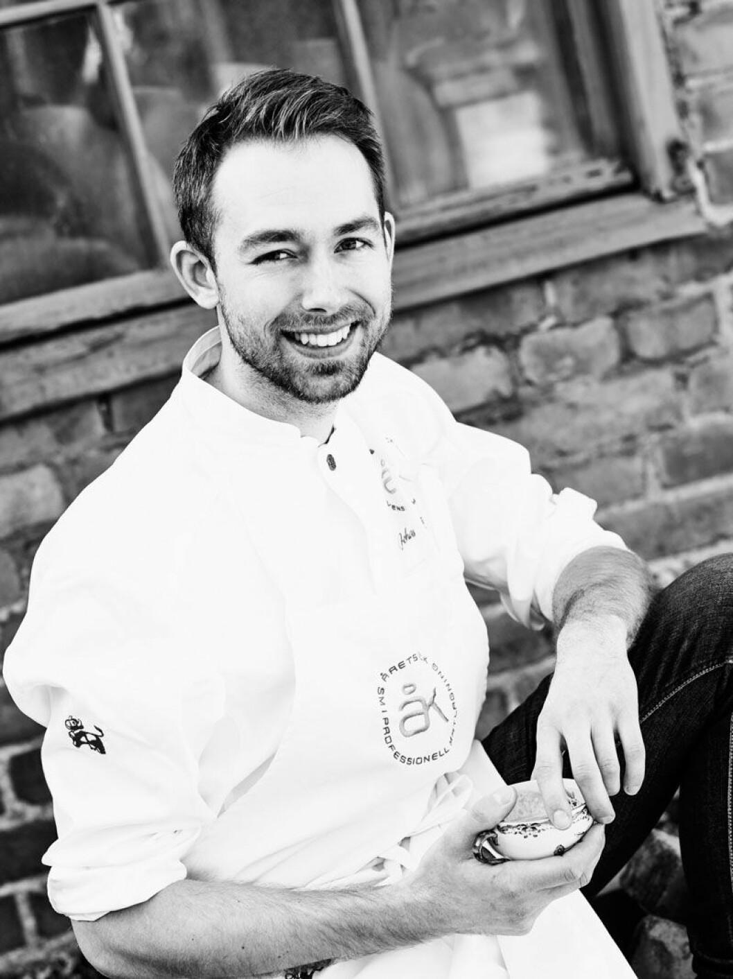Årets kock från 2017, Johan Backeus lagar mat under Love November på Strandvägen 1.