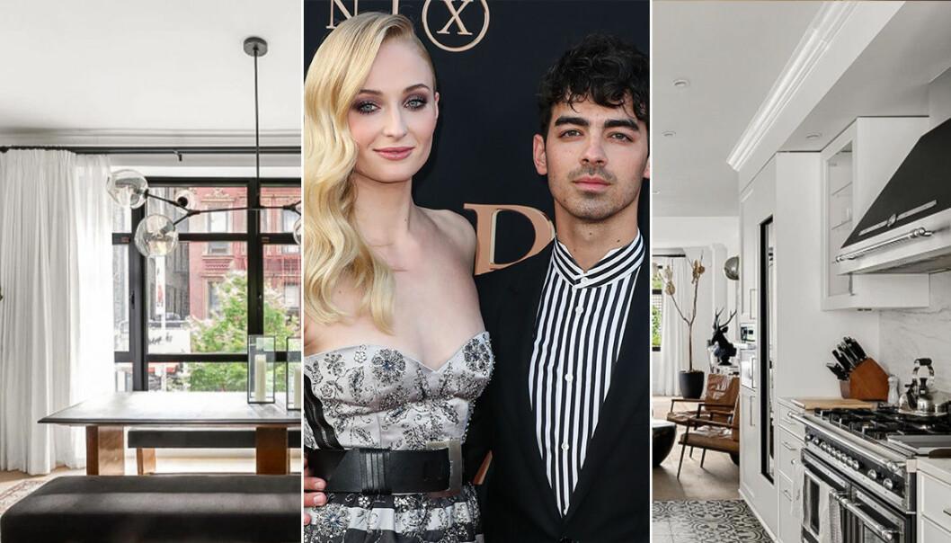 Joe Jonas och Sophie Turner och deras lägenhet i N.Y