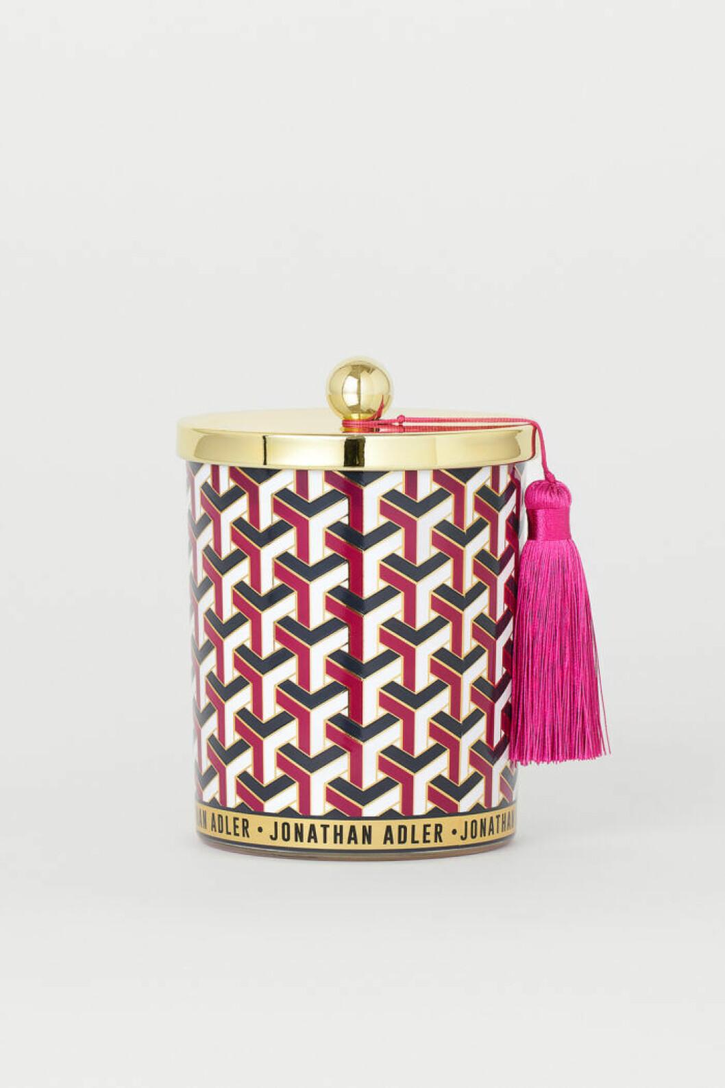 Prydnadsburk i guld, rosa, svart och vitt från Jonathan Adler x H&M