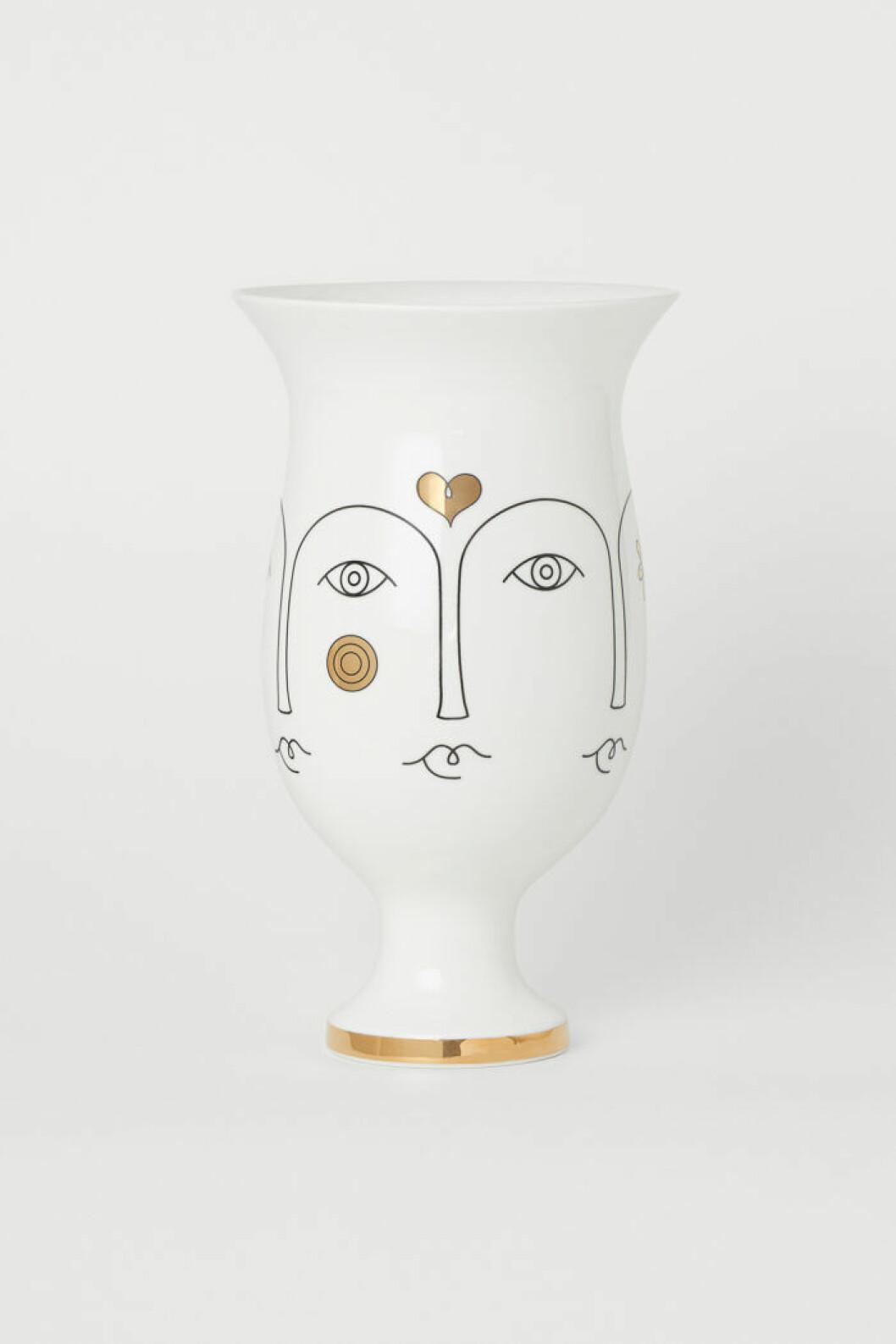 Vitguldig vas från Jonathan Adler x H&M