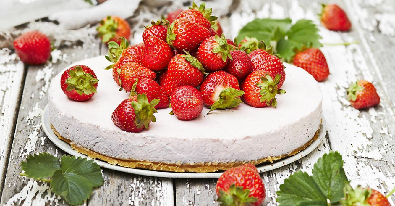 Recept på klassisk jordgubbscheesecake