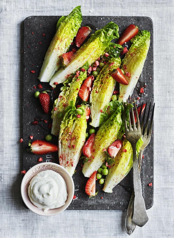 Recept jordgubbssallad