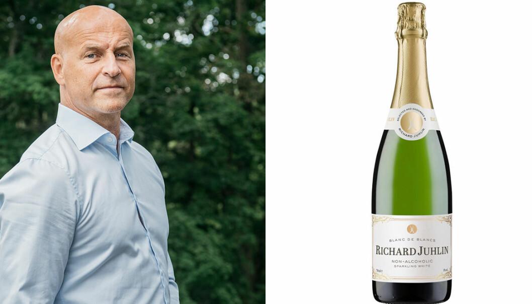 Richard Juhlin och en flaska bubbel