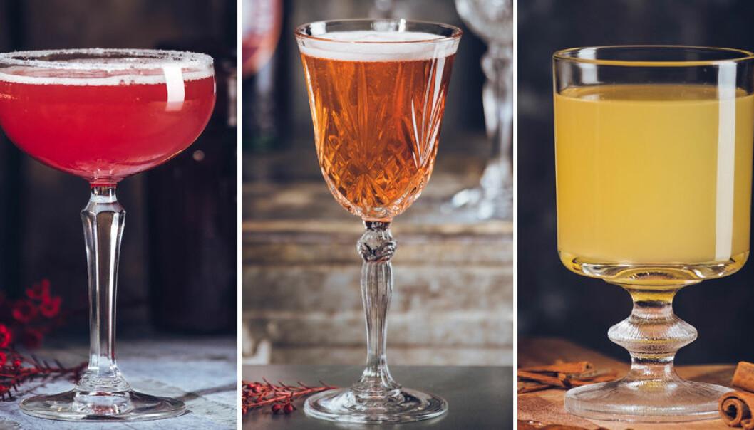 Trendiga cocktails till julmyset.