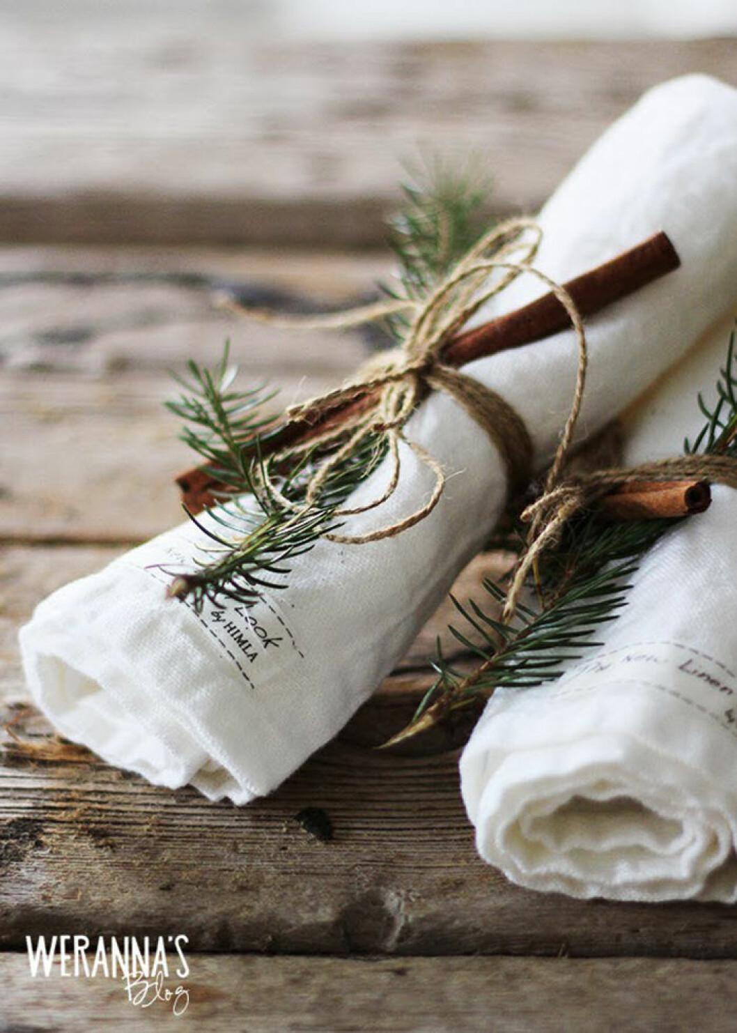 diy servettring till juldukningen