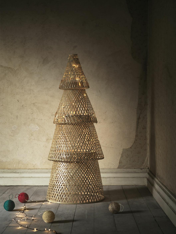 Minimalistisk julgran i bambu från Ikea