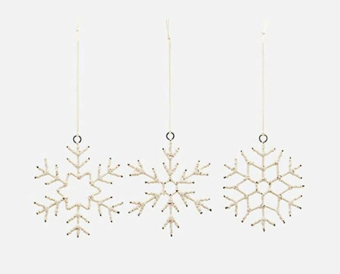 Julgranshängen i form av snöflingor, House Doctor