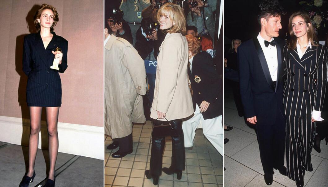 Julia Roberts stilsäkra outfits från 90-talet
