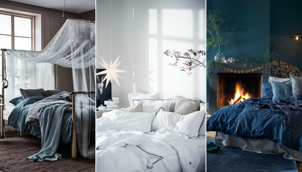 Detaljerna som skapar julkänsla i sovrummet.