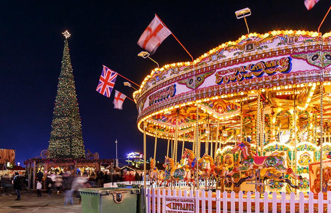 Julmarknad i Hyde Park, London