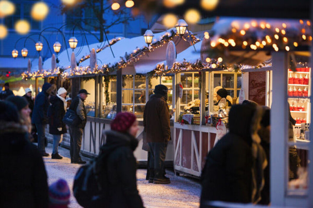 Lisebergs julmarknad.