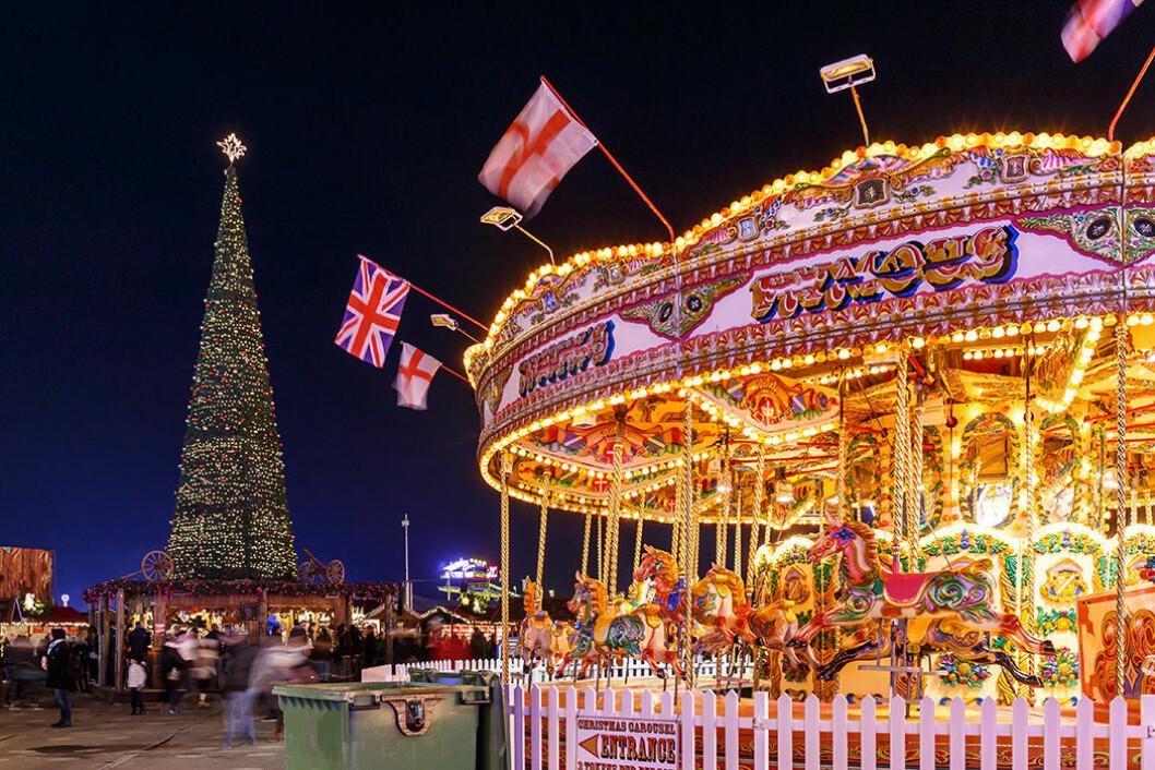 Julmarknad i London.