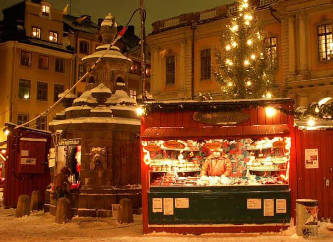 Stortorgets julmarknad. Foto: Holger Ellgaard