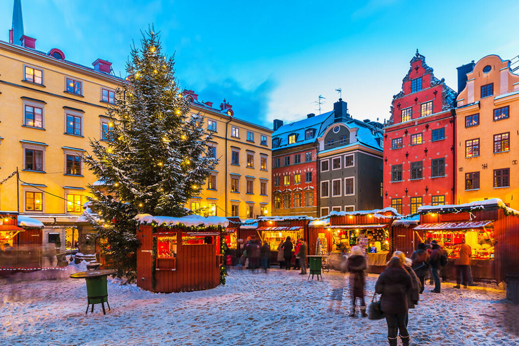 Julmarknaden i Gamla stan. Foto: IBL