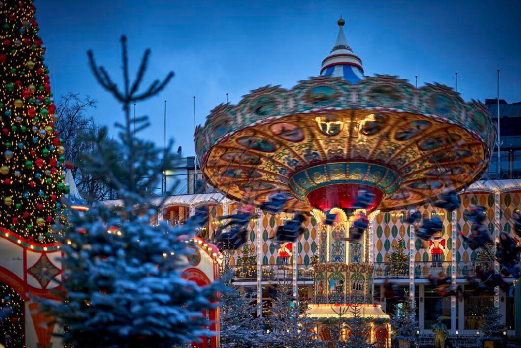 Julmarknad på Tivoli i Köpenhamn. Foto: Lasse Salling
