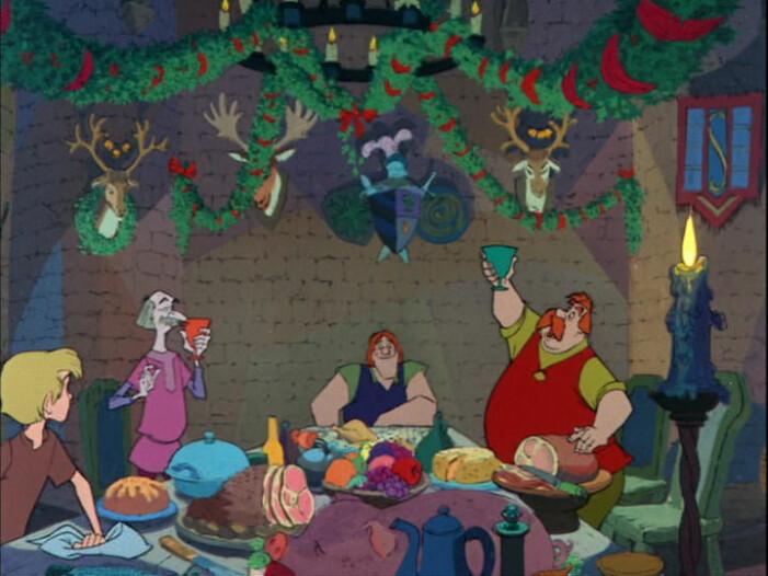 Julmiddag i filmen Disneys Svärdet i stenen