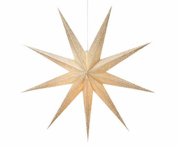 julstjärna i guld från åhlens