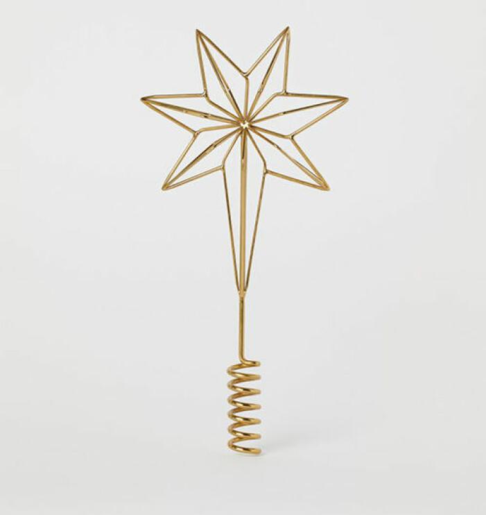 Julstjärna i guld från H&M Home