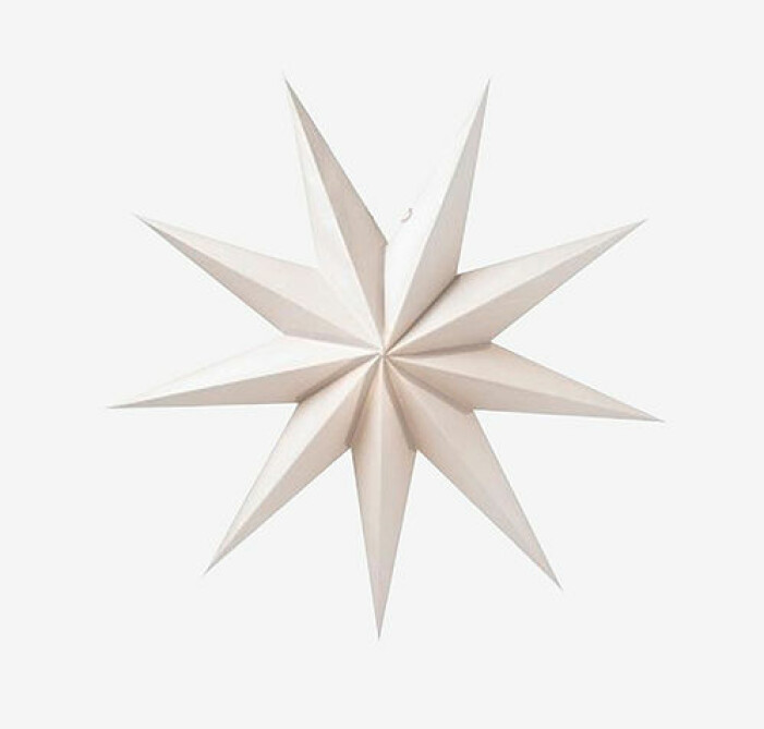 Julstjärna i vit nyans, Watt & Veke
