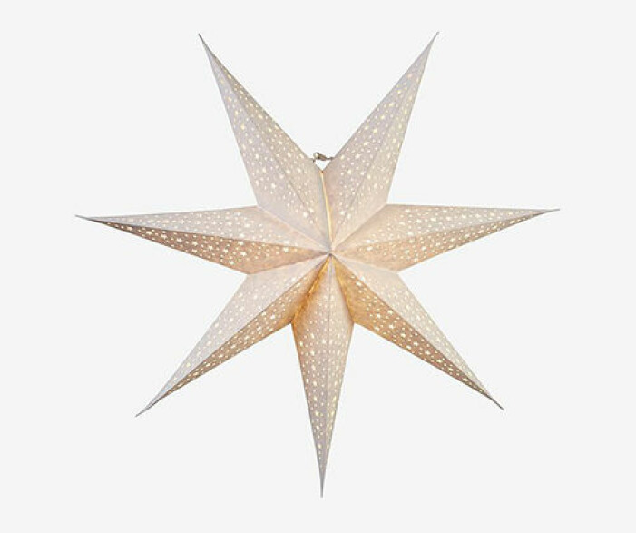 Julstjärna med hål från Star Trading
