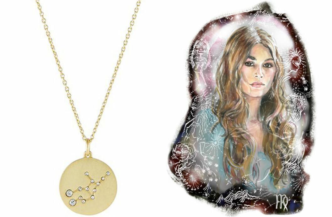 jungfrun stjarntecken halsband smycke horoskop