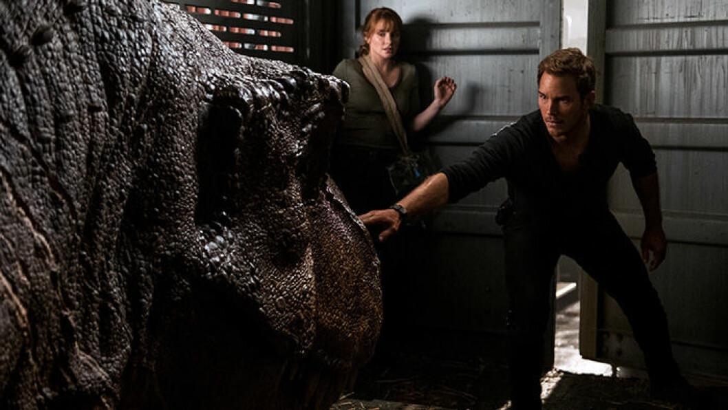 En bild på skådespelaren Chris Pratt i filmen Jurassic World: Fallen Kingdom.