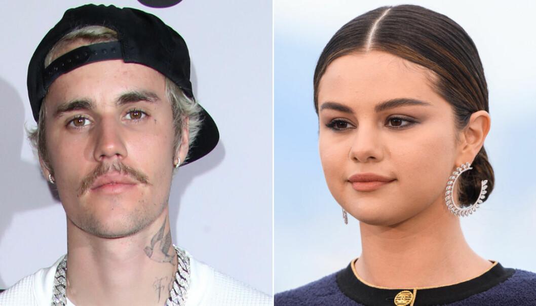 Närbilder på Justin Bieber och Selena Gomez