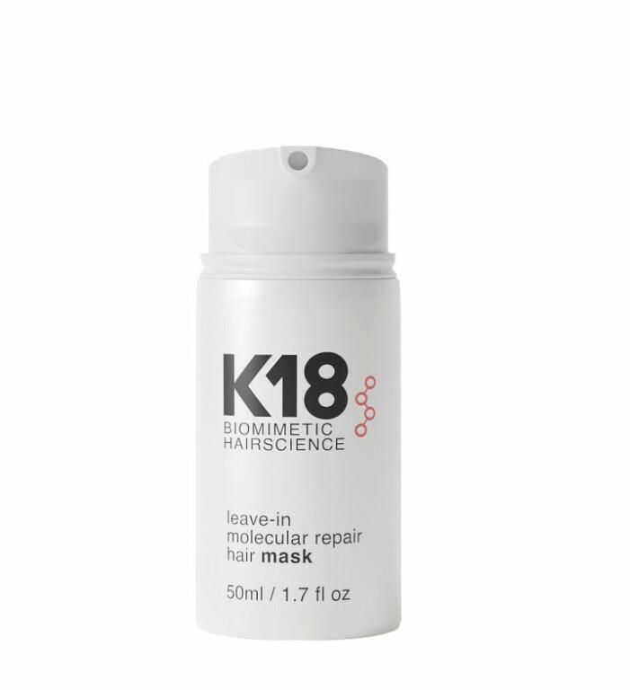 K18 Leave-in molecular reapir hair mask.