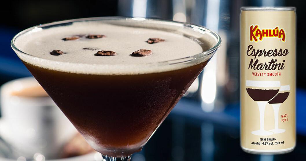 Kahlúa lanserar Espresso Martini på burk.