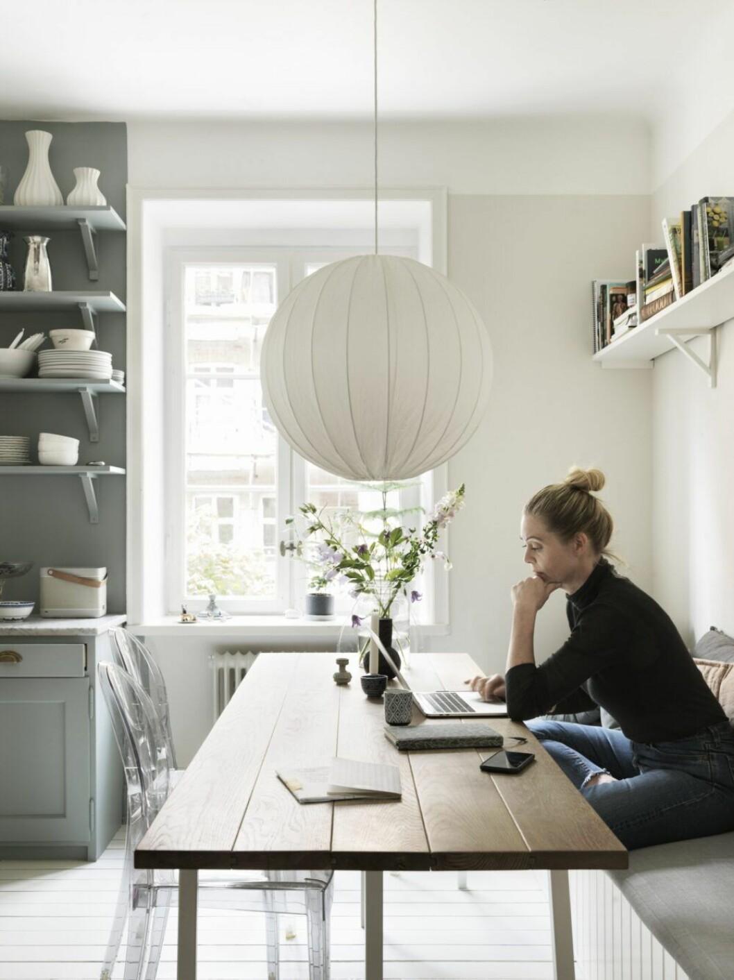 Kajsa Bengtsson i sitt hem i Malmö