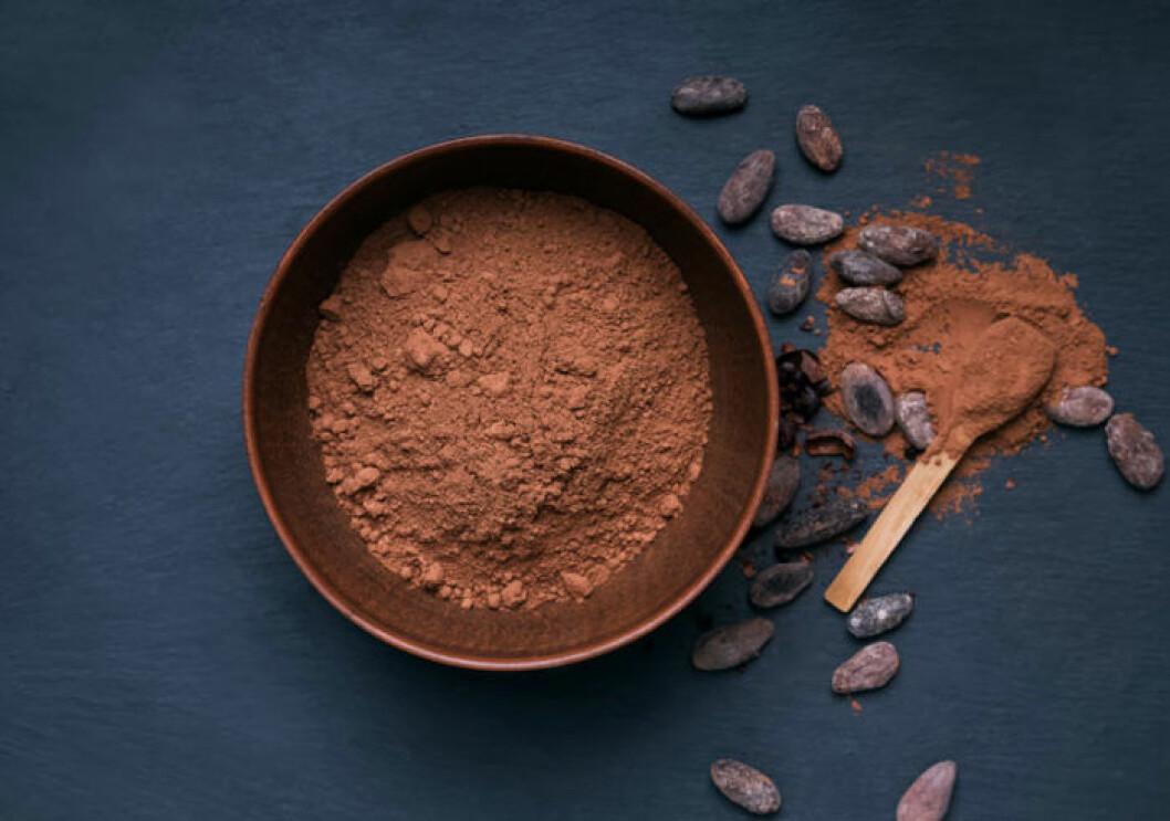 Kakao är oväntat rikt på fibrer.