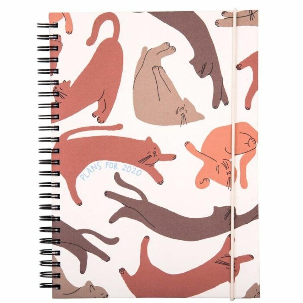 Kalender med katter för 2020
