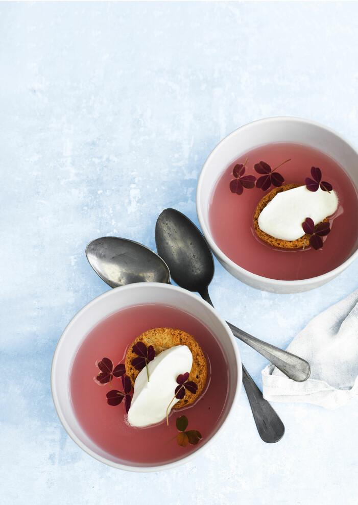 Bjud på kall rabarber- och äppelsoppa