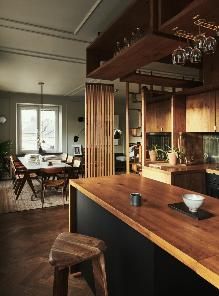 Hemma hos fotografen Kalle Gustafsson matsal utsikt bardisk kök