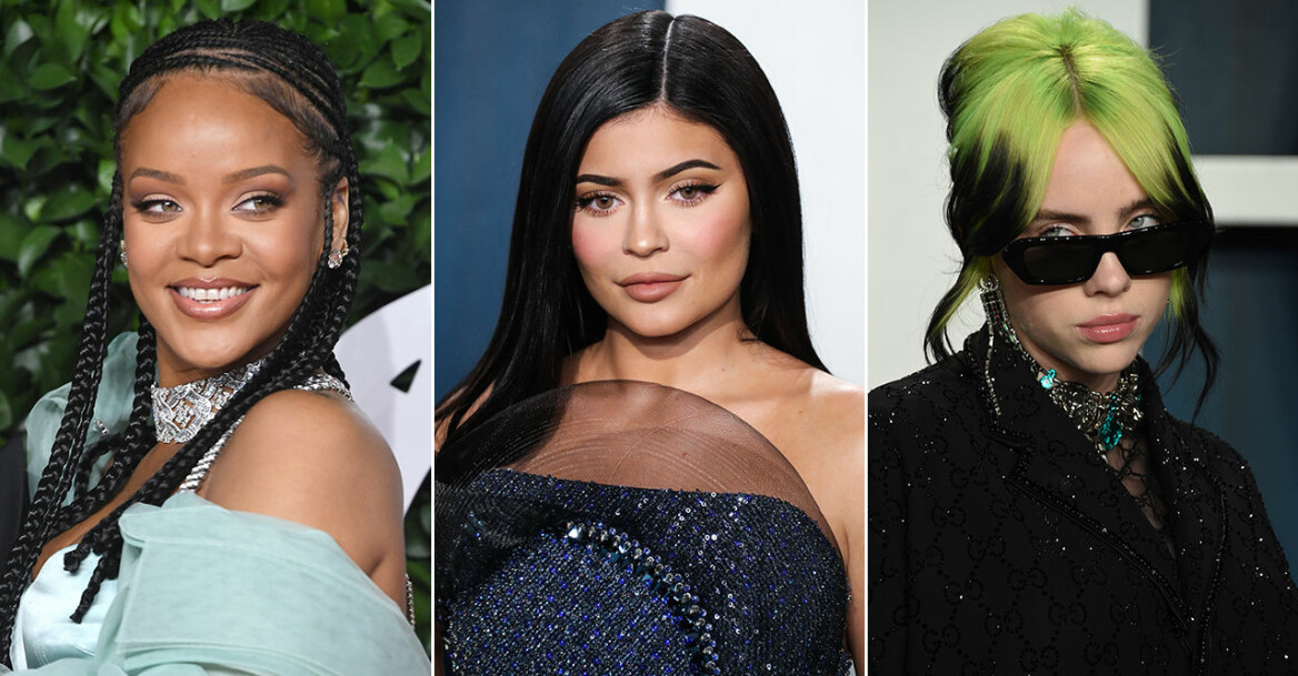 Rihanna, Kylie Jenner, Billi Eilish