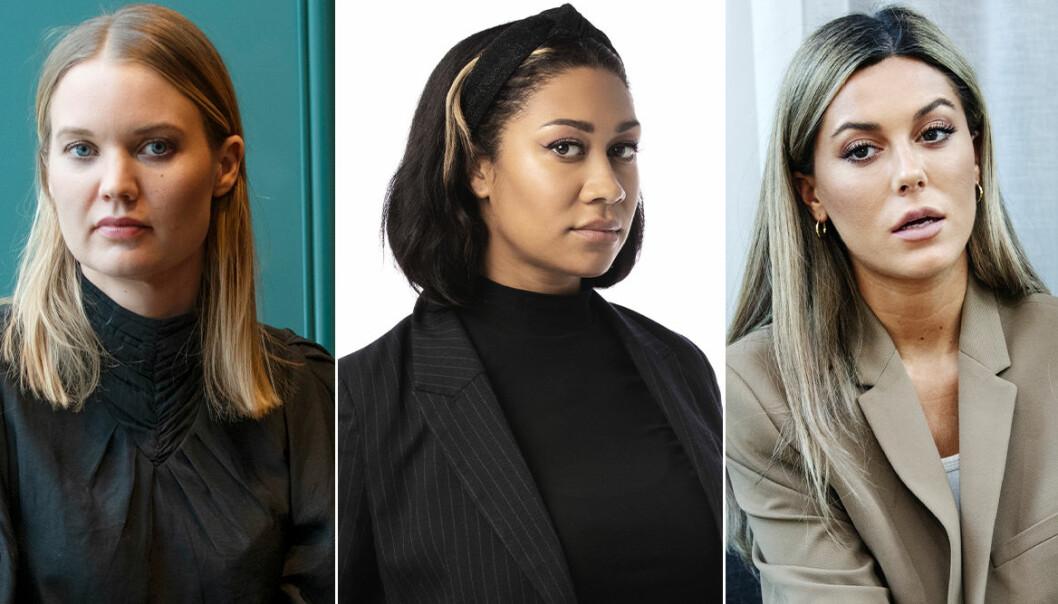 Emma Frans, Julia Frändfors och Bianca Ingrosso med flera reagerar på appen Clubhouse.