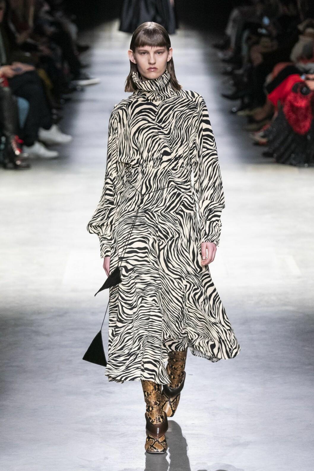 Zebraprint klänning