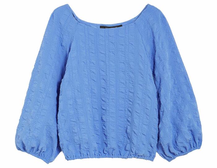 blå blus