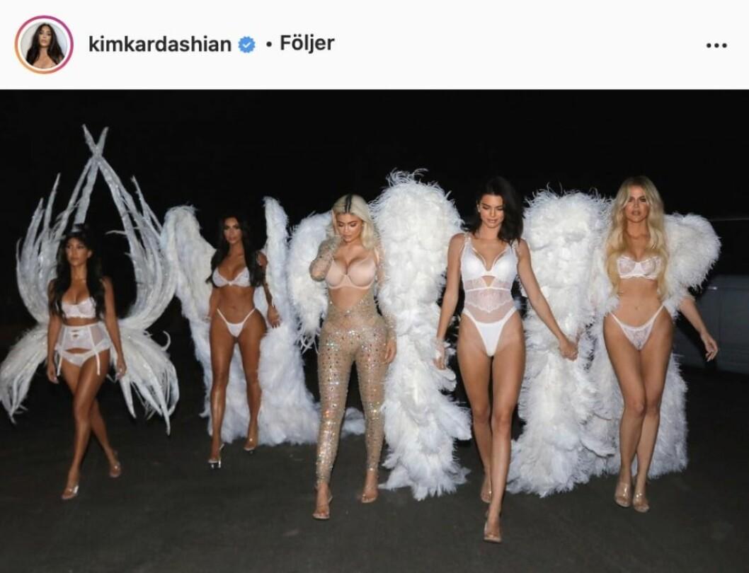 Kardashians som Victoria's secret änglar