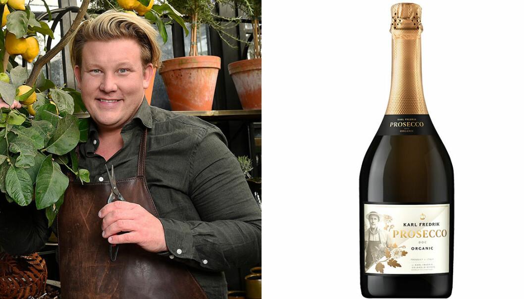 Karl Fredrik och en flaska bubbel