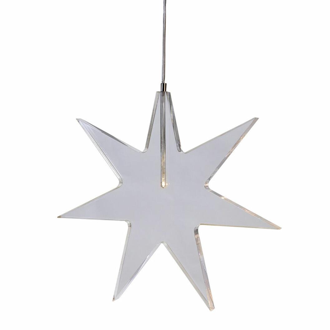 Karla julstjärna från Star Trading är en fin fönsterlampa i jul