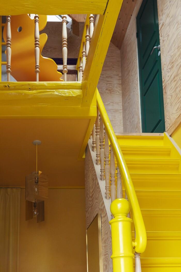 Hemma hos Karsten Lulloff Köpenhamn gul trappa