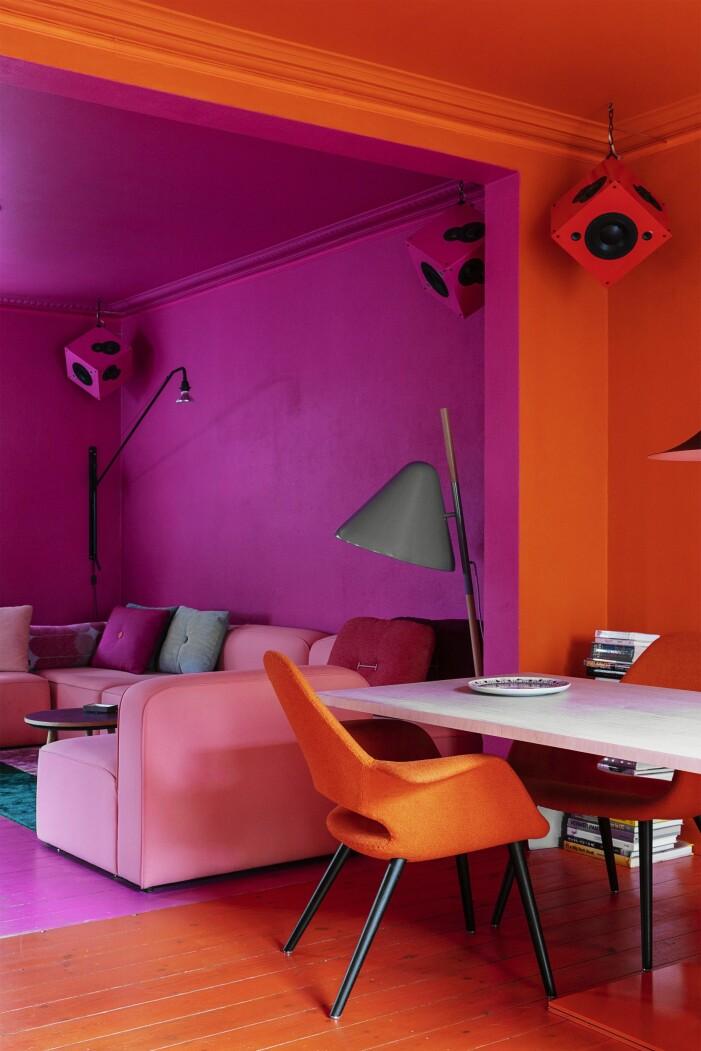 Hemma hos Karsten Lulloff Köpenhamn vardagsrum