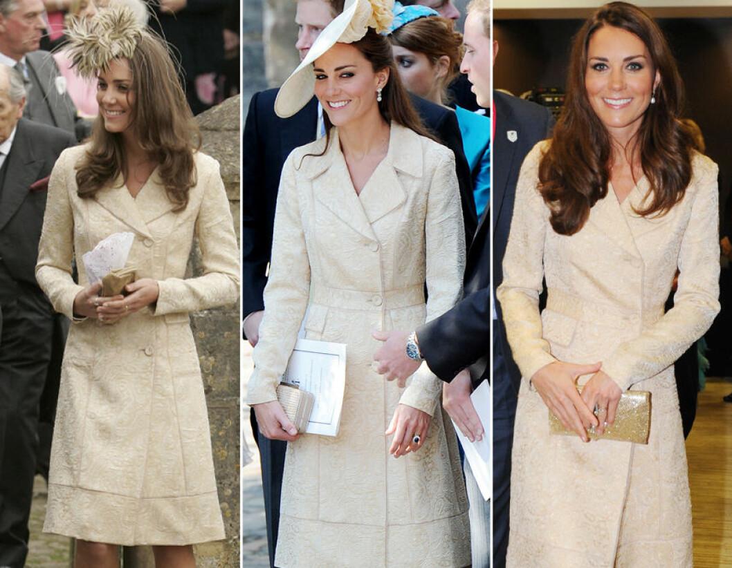 Kate Middleton i vit kappa