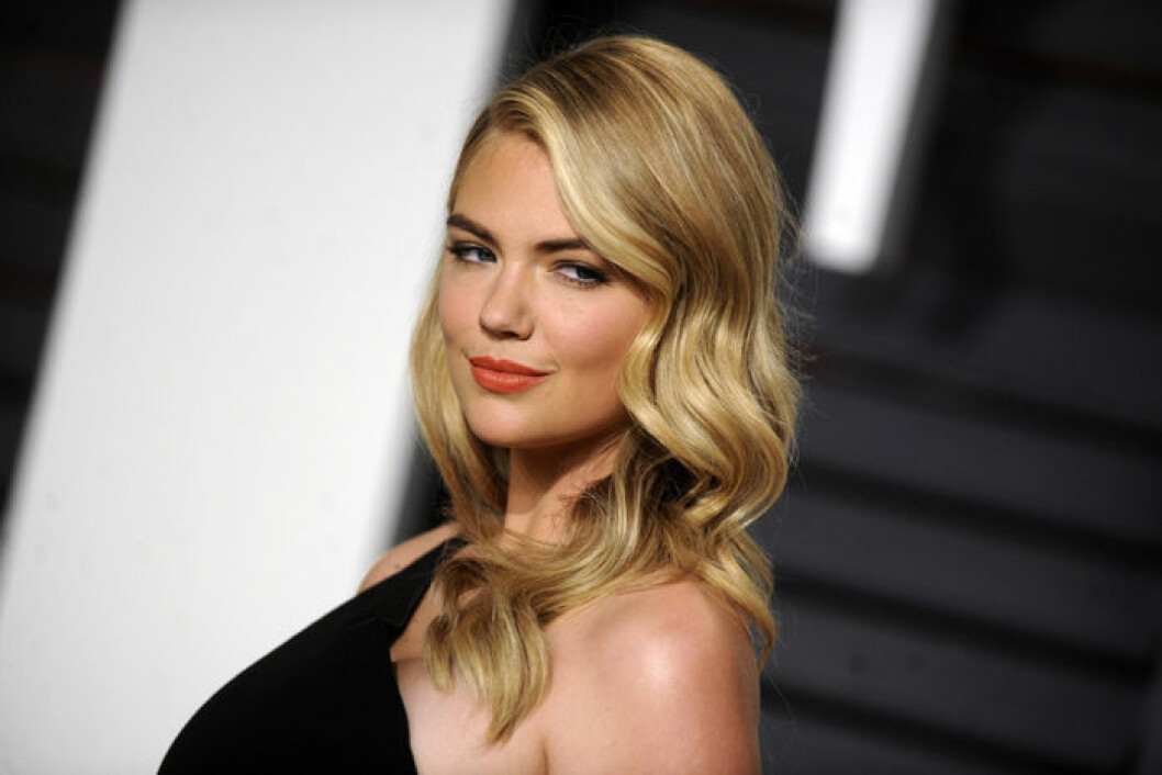 Kate Upton attending the Vanity Fair Oscar Party 2015 on February 22, 2015 in Beverly Hills, Califor