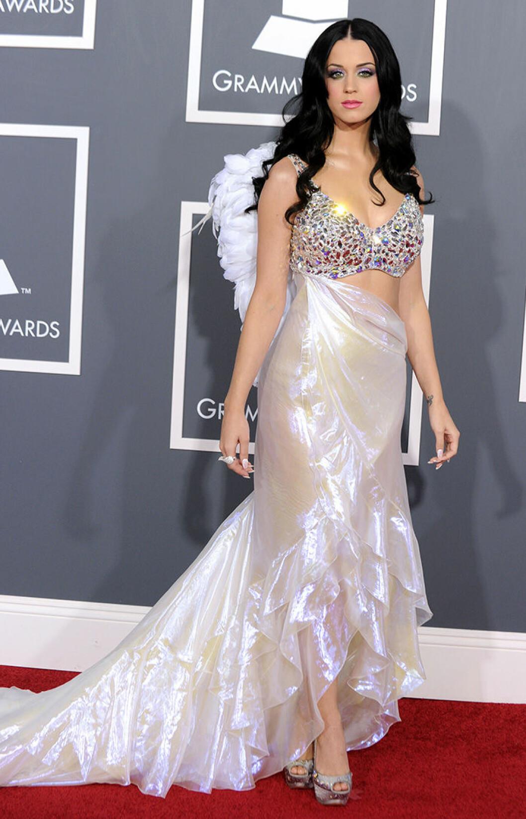 En bild på sångerskan Katy Perry på Grammy Awards 2011.