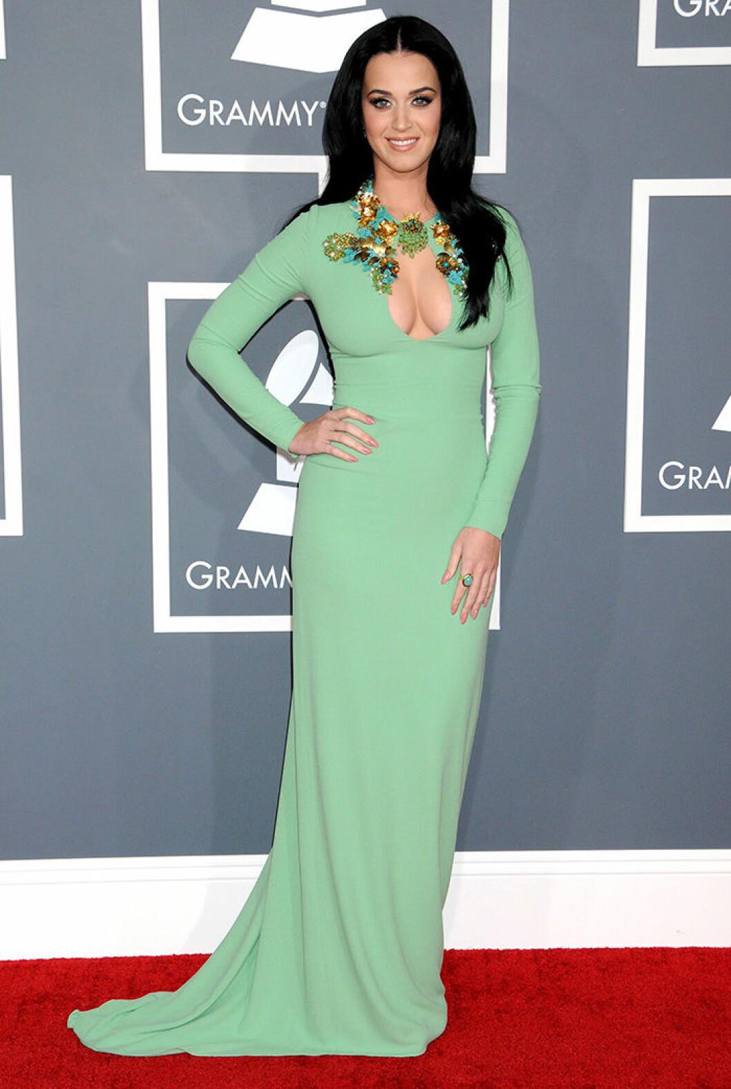 En bild på sångerskan Katy Perry under Grammy Awards 2013.