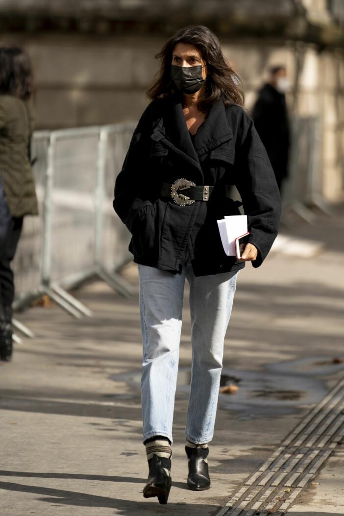 kavaj och jeans franska stilen.