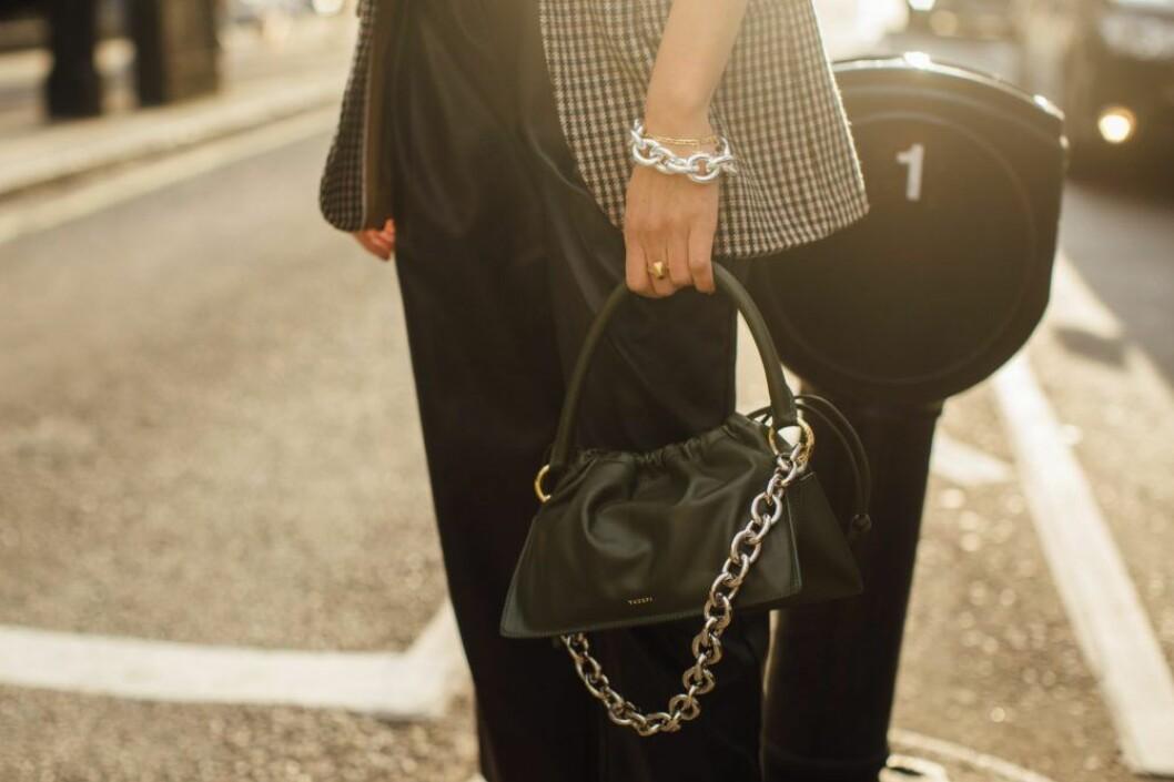 kedjor från london fashion week streetstyle.